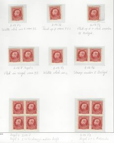 "Belgium 1922 - King Albert I type ""Kleine Montenez"" 75 c vermillion with curiosities - 46 x OBP no. 212"