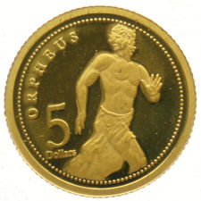 Cook Islands – 5 Dollars 2009 'Orpheus' – gold