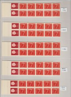 Netherlands 1964/1973 - Specialised collection of stamp booklets in a ringbinder