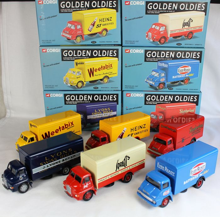 Corgi-Golden Oldies - Scale 1/50 - Lot with 6 truck models: Bedford ...