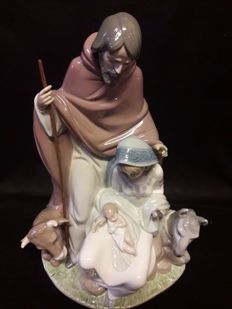 LLadro porcelain - Representation of Joseph, Mary and Jesus.