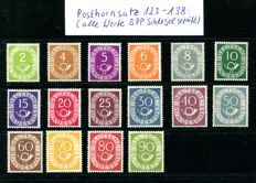 Posthorn set Michel no. 123 to 138