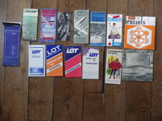 14 brochures from various airliners