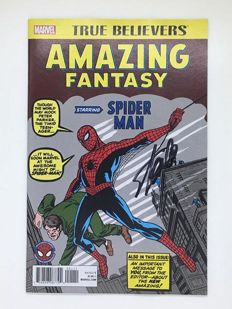 Amazing Fantasy #15 - True Believers - Marvel Comics - Signed by Stan Lee