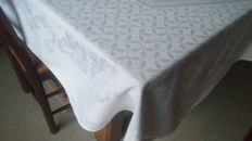 Beautiful damask cotton tablecloth.