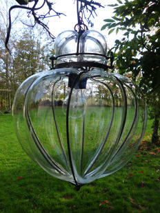 Venetian transparent mouth-blown hanging lamp - Italy