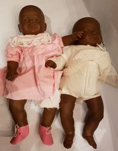 Life size dolls - set of two beautiful dark babies