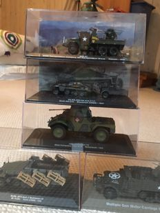 Armoured military vehicles 1/43 miniatures. 1/72 IXO Eaglemoss 5 new models in a box