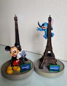 Disneyland Paris - 2 Figures - Mickey Mouse and Stitch (2002)