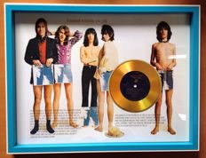 "The Rolling Stones Gold Plated CD Display  "" Sticky Fingers """