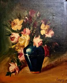 "Campoy ( Spanish 19th - 20th Century ) - "" A vase with flowers """