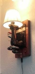 Antique sewing machine Veritas Dresden Wall lamp.