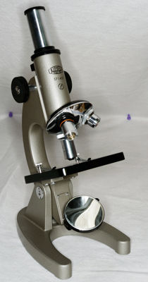 Simple Olympus microscope in case
