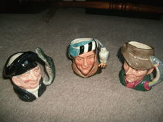 Trio of Royal Doulton character jugs.