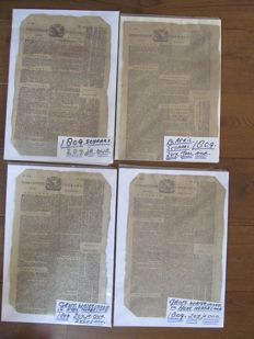Utrecht; Lot with 4 copies of the 'Utrechtsche Courant' - 1809