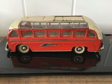 Günthermann, US Zone Germany - Length 29 cm - Tin bus with clockwork motor, 1950s