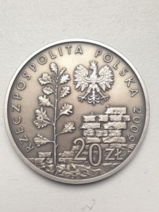 Poland - 20 Zlotych 2009 '65th Anniversary of Liquidation of Ghetto in Lodz' - silver