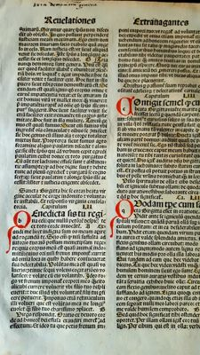 Incunabulum; Leaf from medieval book - c. 1495