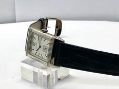 Reverso 1931 Silver Dial Black Leather Men's watch