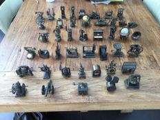 Large collection of metal pencil sharpeners