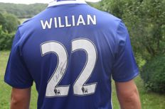 Soccer - Official Chelsea FC shirt, signed by Willian