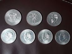 Mexico - 5, 10 and 25 Pesos 1955/1968 (7 coins) - silver