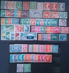France 1900/29 - Mini Collection with numerous complete series