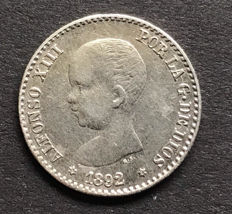 Alfonso XIII - 50 cents 1892 (9-2)