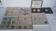 San Marino - 5 divisional series 1975/1982/1983/1984/1985 + 3 silver commemorative coins