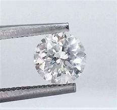 Round Brilliant Cut  - 1.02 carat  - E color  - SI1 clarity  - Natural Diamond - 3 x VG  - With AIG Certificate + Laser Inscription On Girdle