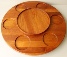Peter Holmblad / Arne Jacobsen for Stelton - Lazy Susan platter made of solid teak