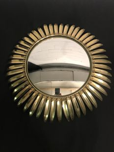 Large - old - sun mirror - convex glass -
