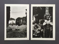 2 x Helmut Newton (1920-2004) - Père Lachaise, Tomb of Talma, Paris & In a garden near Rome - 1977
