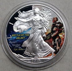 United States - Dollar 2017 'Silver Eagle / Assault Trooper' mit farbe - 1 oz silber