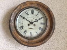 Unrestored wood grain painted metal clock – period 1900. France.