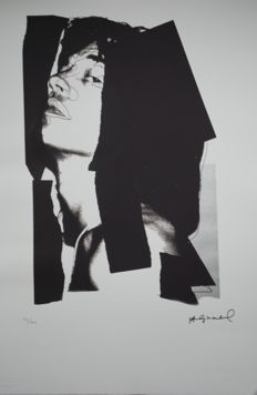 Andy Warhol - Mick Jagger-  offset Lithograph Georges Israel Editeur