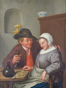 Unknown (18th century) - A drink with the fish wife
