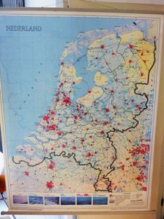 Lot school maps The Netherlands and provinces.