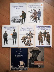 Military history WW II - Five volumes from the series 'Men-at-Arms'- 1977-1991