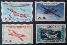 France 1954 - Air Mail, prototypes series - Yvert no. 30/33