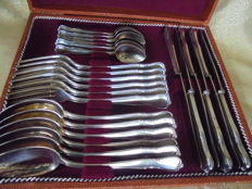 24 piece silver-plated cutlery Alt-Chippendale with 90 edition silver