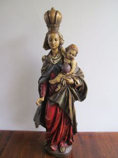 Large wooden Mary statue - Germany ca. 1900