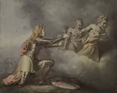 North European School (18th century) - Joan of Arc and the furies