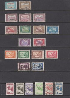 Hungary 1918/1988 - Air mail Set with complete series