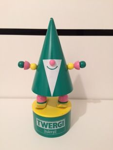 Milton Glaser design for Alessi Twergi - wood mascotte, limited edition for top retailers