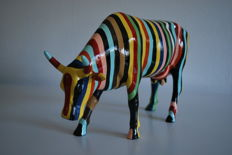 Cowparade - Cary Smith - type Cow Striped -  Large - Retired