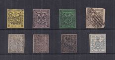Modena and Parma, 1852 -- Small selection of stamps
