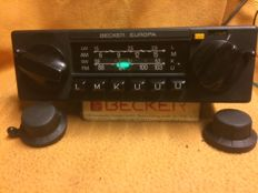 Original Becker Europa Kurier 598 classic car radio - works well LMK 3xU = FM
