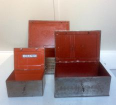 Three steel Beaumont money boxes 1930s - France