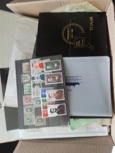 World - Unsorted batch of stamps in bags, on cards and in binders